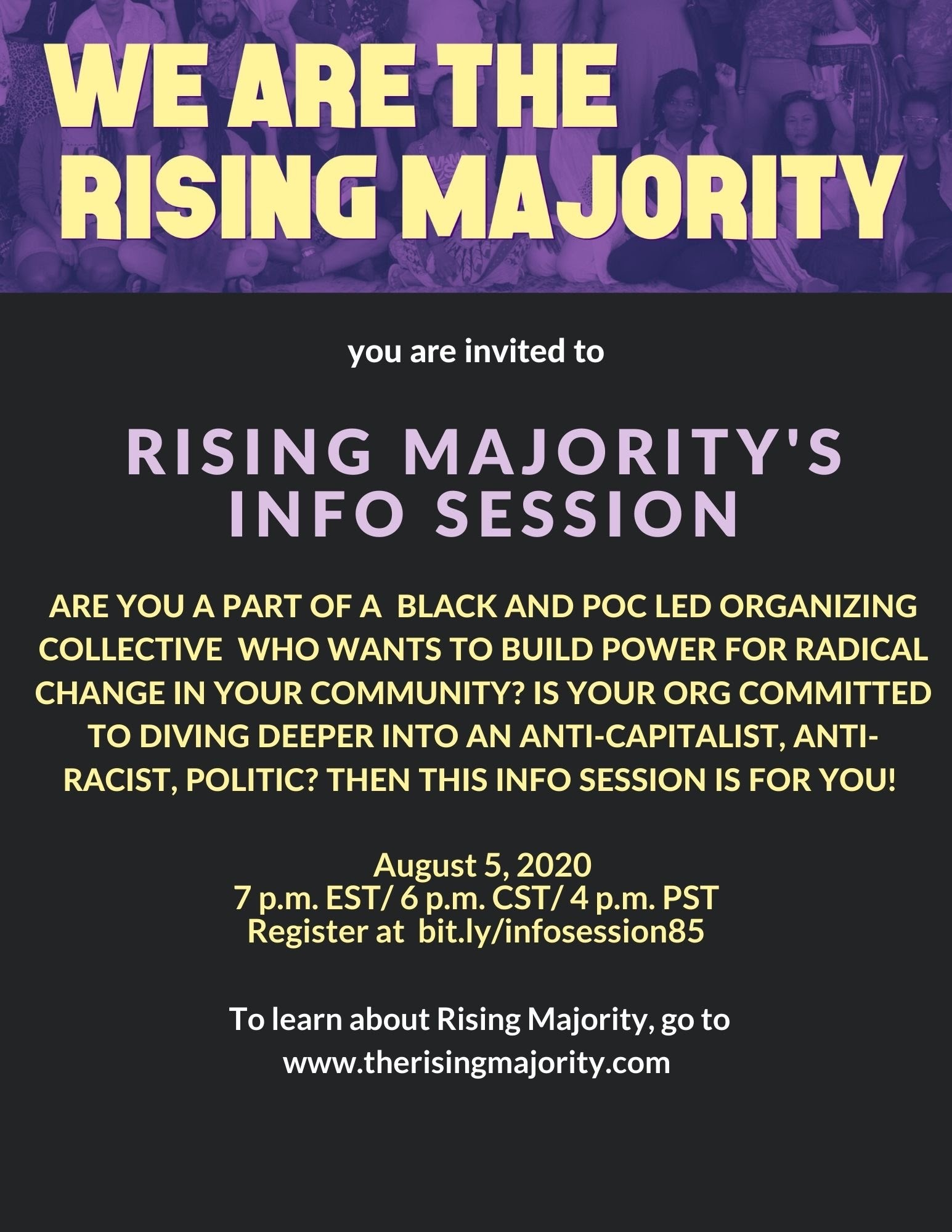Rising Majority's Info Session event image